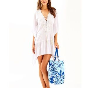 NWT Lilly Pulitzer Tullie Coverup Resort White